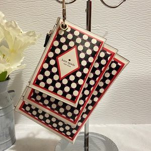 Kate Spade Deck of Cards Triple Pouch